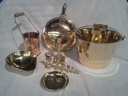 antique copper pot and pan  restoration services