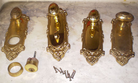 professionally restored antique door hardware