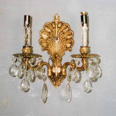 ornate 19th century wall sconce  restoration services