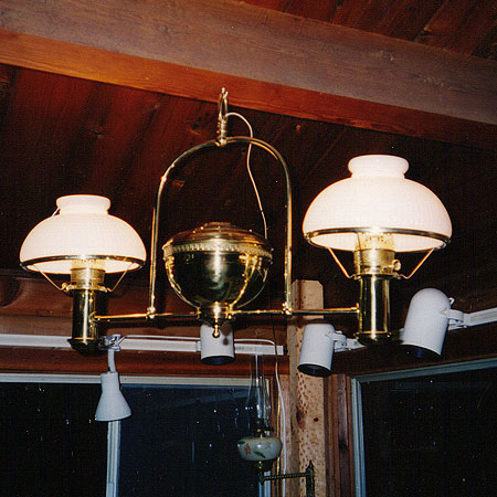 Antique hanging lamp  restoration services