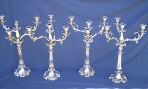 Silver Candelabra polishing